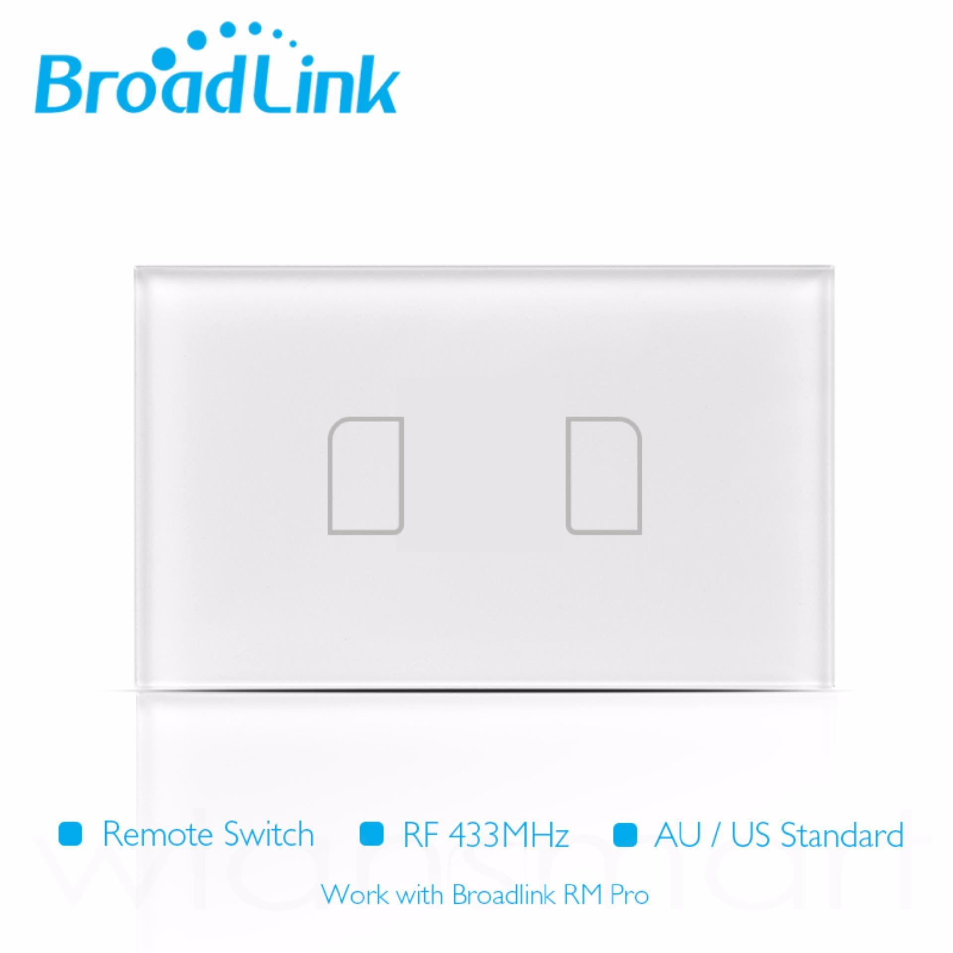 Công tắc cảm ứng, điều khiển từ xa bằng điện thoại qua wifi/3G Broadlink TC2 chuẩn US (2 nút)