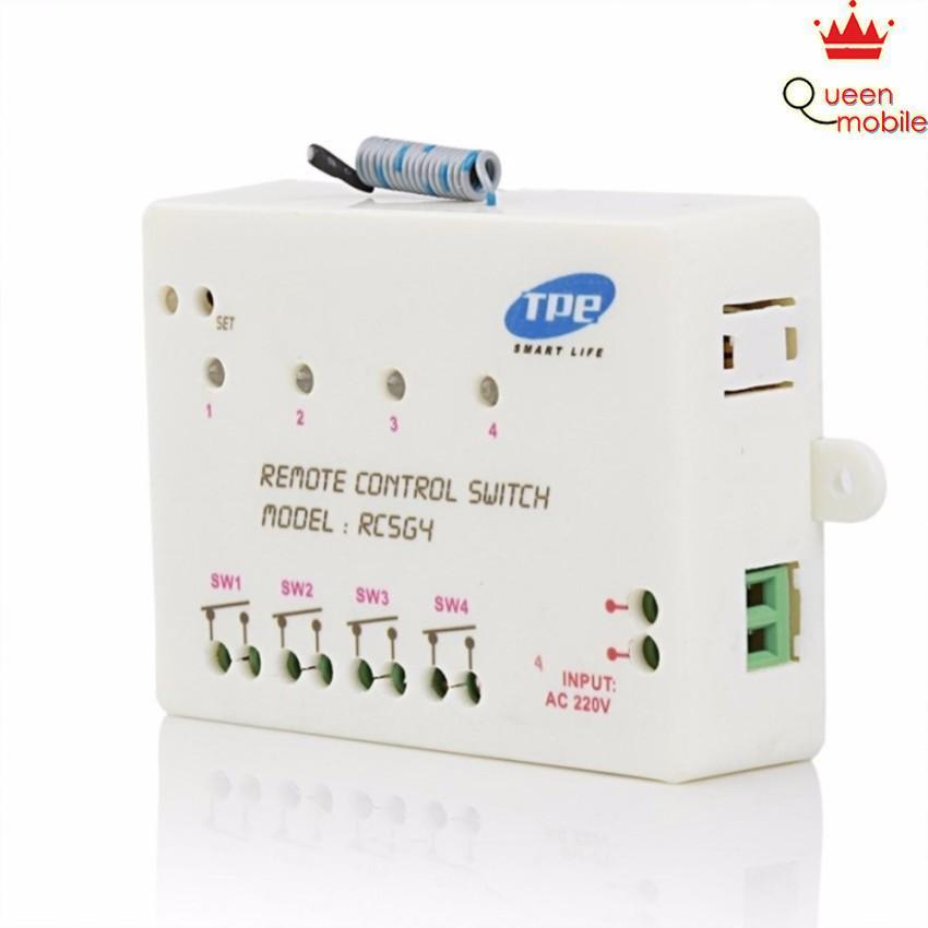 Bộ công tắc điều khiển từ xa 4 kênh TPE RC5G4