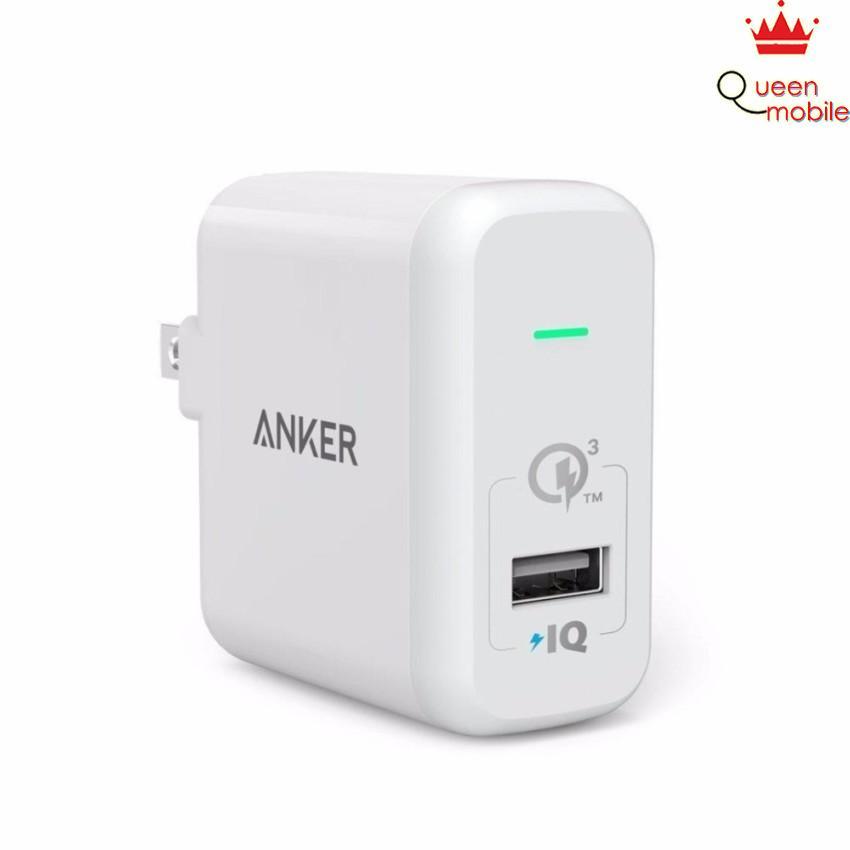 Sạc ANKER PowerPort+ 1 cổng 18w Quick Charge 3.0 có PowerIQ (Trắng)